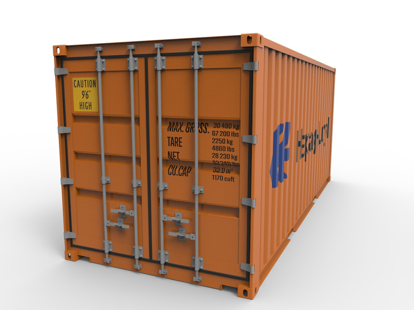 48ft Shipping Container 48D CAD Model Library GrabCAD Extraordinary Shipping Furniture Model