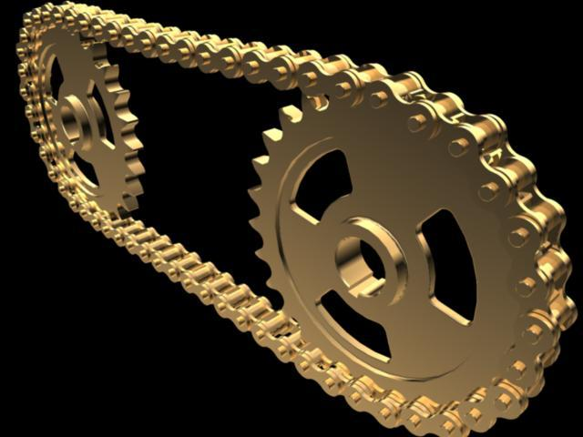 Roller Chain | 3D CAD Model Library | GrabCAD