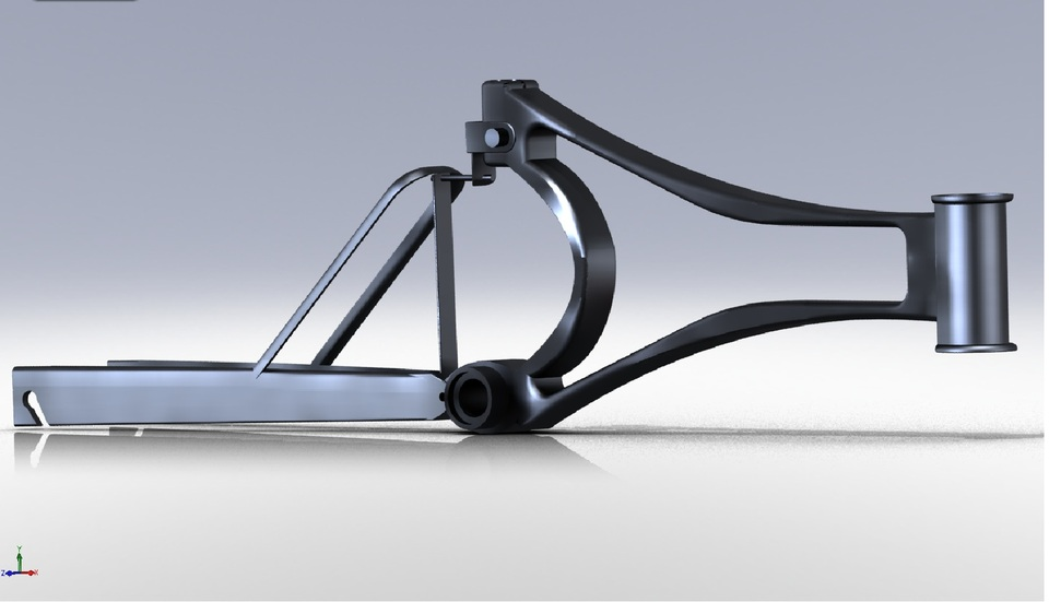 custom bike frame solidworksstl 3d cad model grabcad