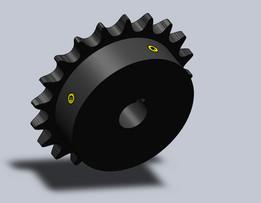 ANSI 40 5/8 bore 20 tooth steel sprocket. With 2 set screws