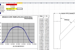 Coping Calculator for large steel pipes in Excel format