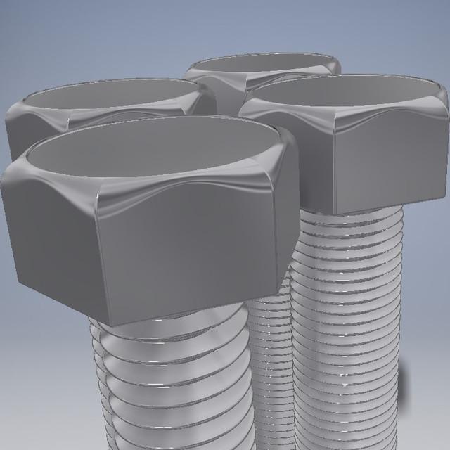 All M5 Hex Bolts | 3D CAD Model Library | GrabCAD