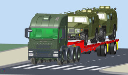 ASSY TRACTOR 8X8-TRAILER DROP DECK- 2 GAZ TIGER