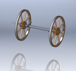 Handcart axis
