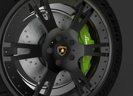 """Lamborghini Wheel Rim - Aluminium alloy 8.5"""" x Ø 19"""""""
