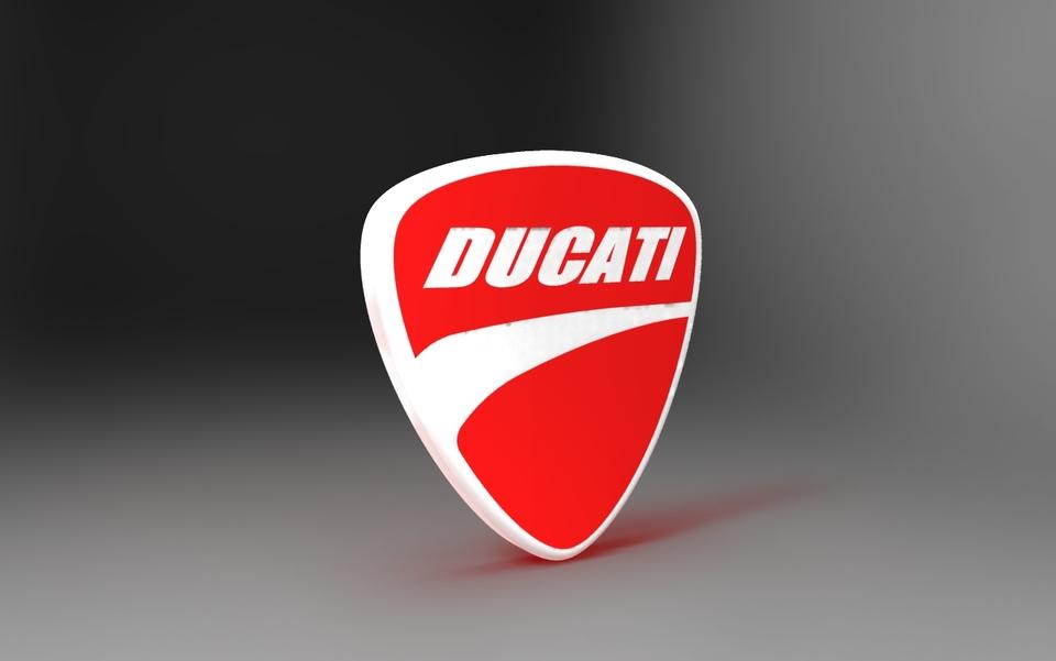 Ducati Logo 3d Cad Model Library Grabcad