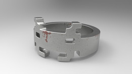 Space Invader ring