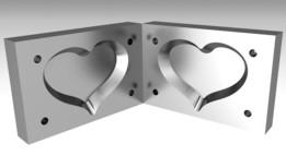 Mold of Plastic Heart Model