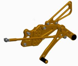 suzuki gsxr 1000 k8 left cnc adjustable rearset