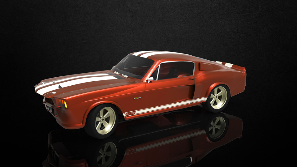 1967 Shelby GT500 Eleanor | 3D CAD Model Library | GrabCAD