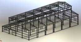 Workshop steel frame