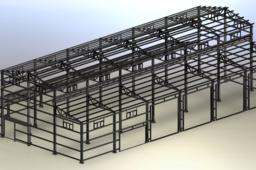 Workshop steel frame