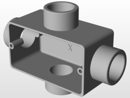 Condulete Aluminio 3/4 com Rosca Tipo X