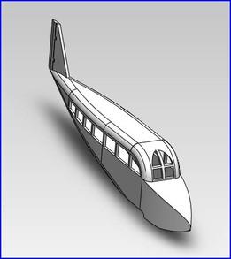 Carlingue d'avion radiocommandé - Cabin of a radiocontroled airplane