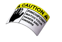 Decal, Caution Pinchpoint
