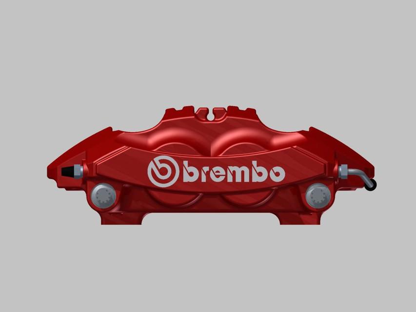BREMBO CALIPER 2014 PORSCHE CAYMAN 981 LH FRONT   3D CAD