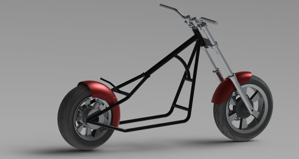 49cc mini chopper solidworks 3d cad model grabcad - Mini Chopper Frame