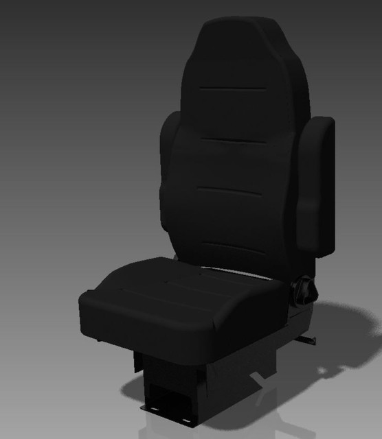 Truck Seat, Heritage Silver | 3D CAD Model Library | GrabCAD