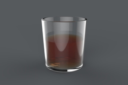 Old Fashioned Drinking Glass with Liquid