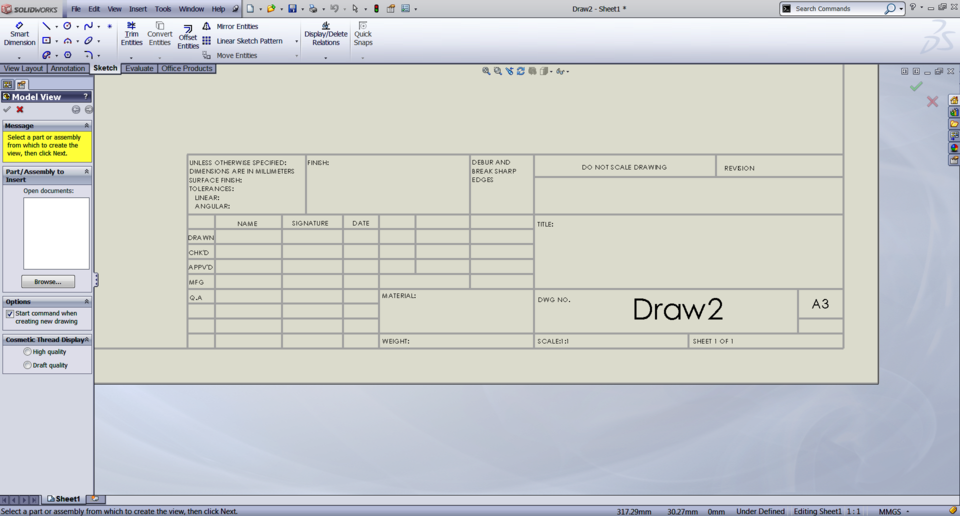 Request drawing boarders with title blocks a3 a2 a1 a0 for Solidworks drawing template tutorial
