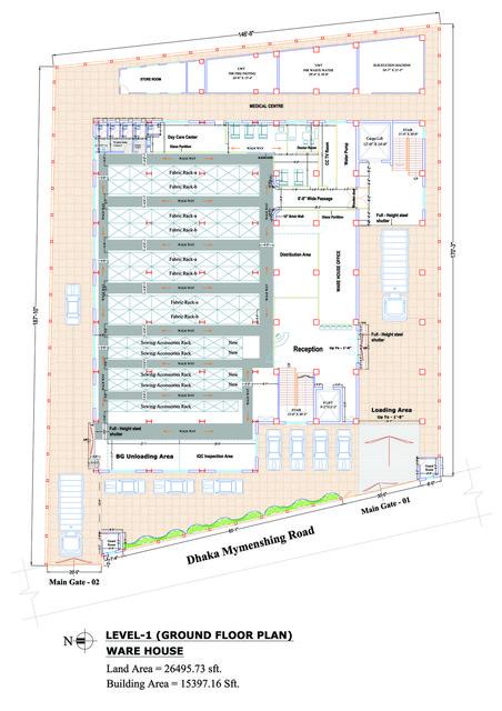 Ware House Floor Plan 3d Cad Model Grabcad