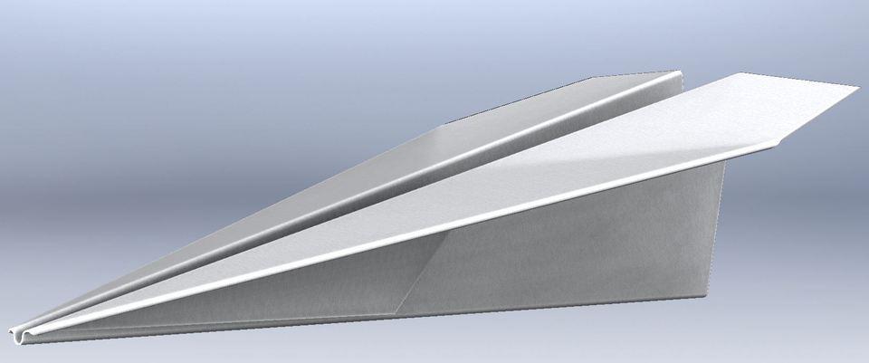 Paper plane   3D CAD Model Library   GrabCAD