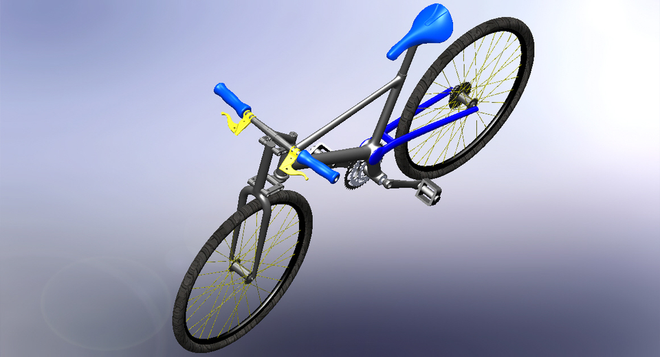 Bicycle | 3D CAD Model Library | GrabCAD