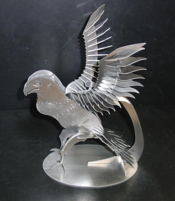 American Bald Eagle, sheet metal puzzle, Bird of Prey, 3d