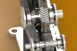 Single stage speed reduction Gearbox