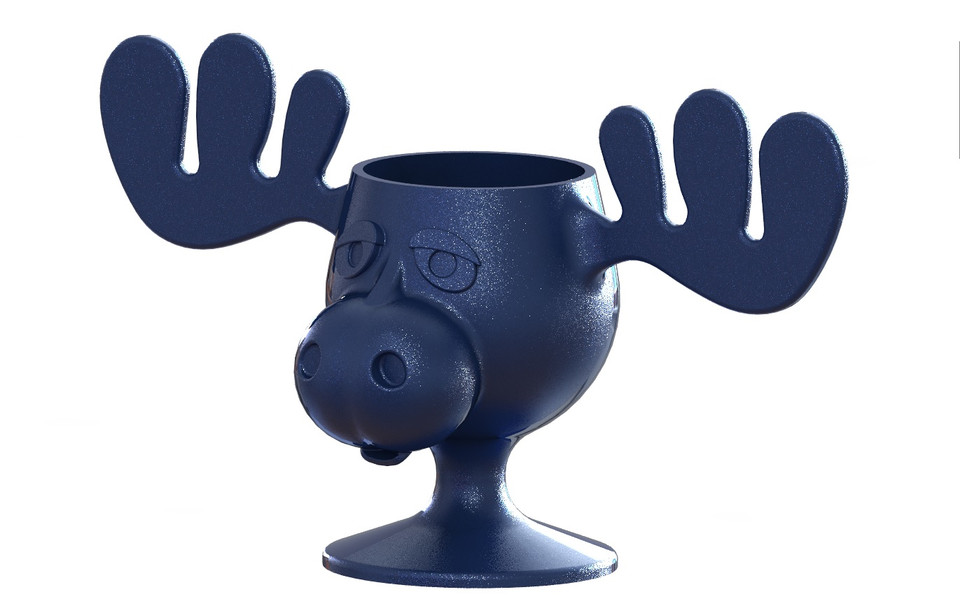 Model In Christmas Vacation.Moose Glass From Christmas Vacation 3d Cad Model Library