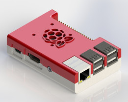 Raspberry Pi B+ Case with Fan Mounting Holes