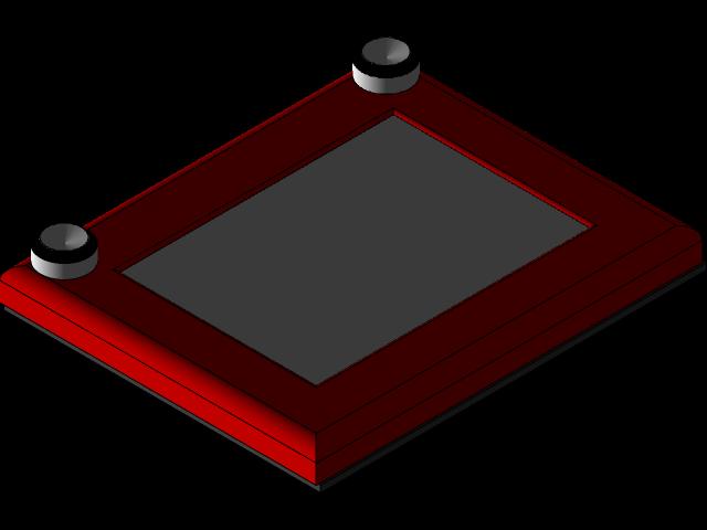 Etch A Sketch 3d Cad Model Library Grabcad
