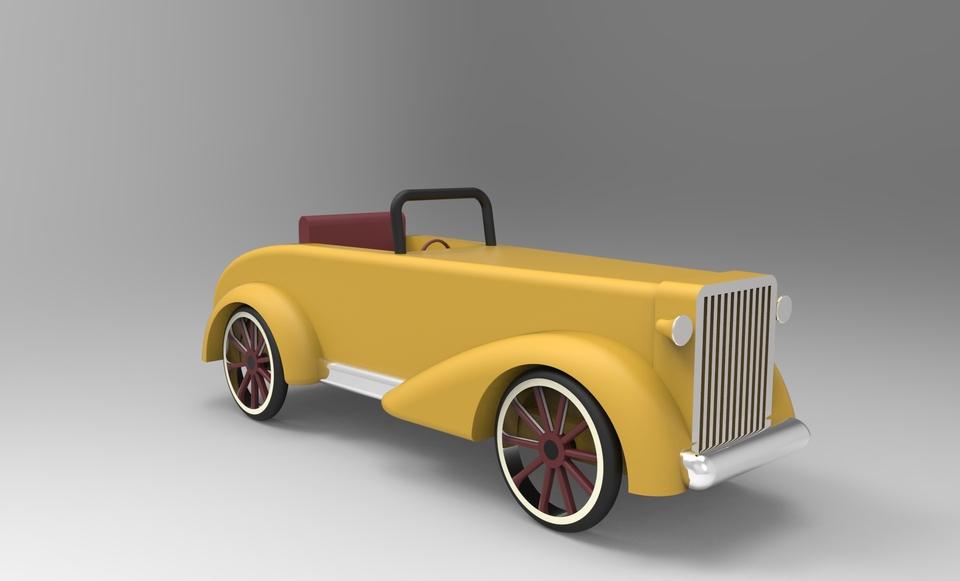 Vintage Car Toy   3D CAD Model Library   GrabCAD