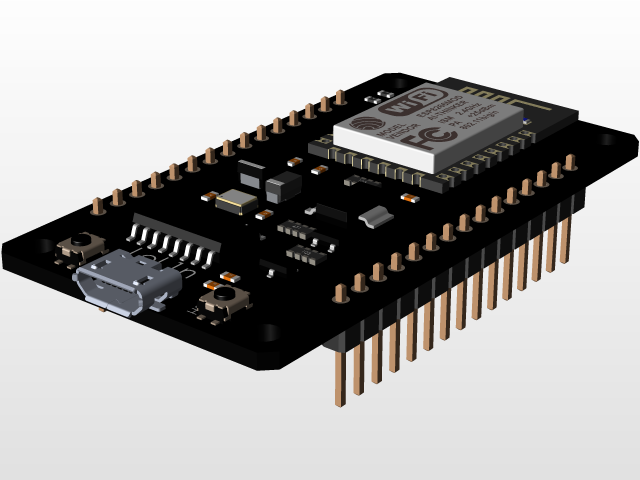 Lolin NodeMCU ESP8266 Development Board V3 | 3D CAD