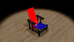 Rietveld Red & Blue Chair