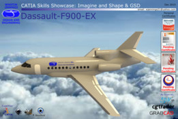 CATIA Skills Showcase - Dassault-F900-EX