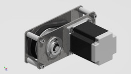 Belt gear with step motor for cnc.