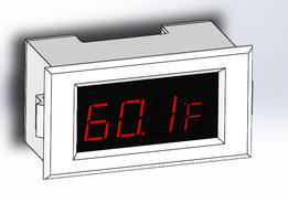 Red LED Temperature Display Controller