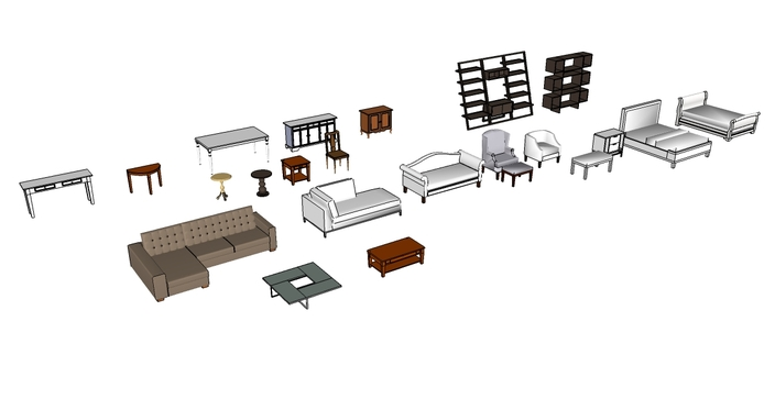 Sketchup furniture decoration access for Modelli sketchup ikea
