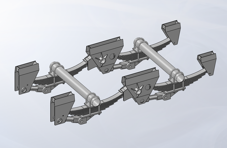 Henred Frauhauf Dual Axle J Suspension 3d Cad Model