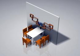 Shelves dining room