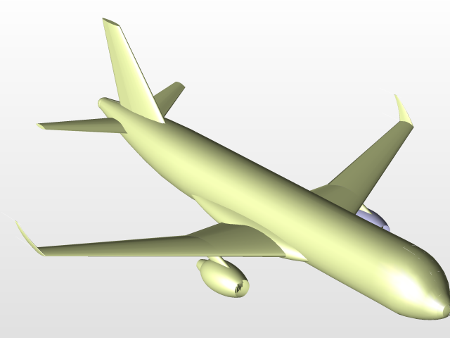 Airbus A320 with NACA 6-series Airfoil   3D CAD Model Library   GrabCAD