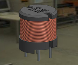 PCB Mount Inductor Coil