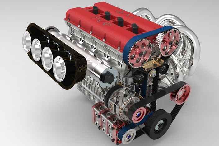 Engine 2 0 liter 4 cylinder 88mm bore x 80mm stroke - Creo projects ...