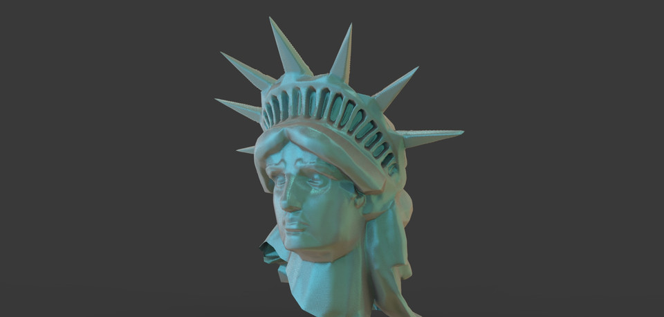 statue of liberty part 2 3d cad model library grabcad
