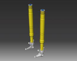 Ducati Monster 1100S Ohlins fork legs