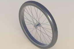 Front wheel from Schwinn chopper bicycle