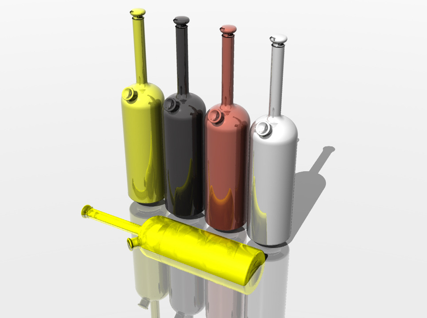 Realistic oil vinegar cruets 3D model - TurboSquid 1439873