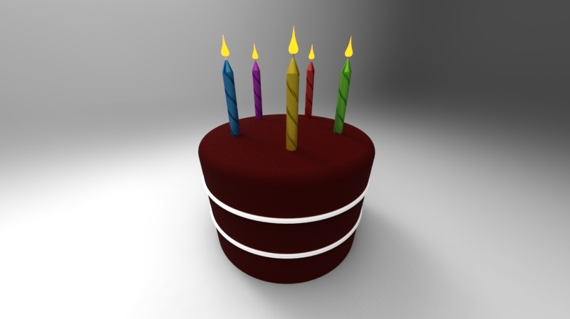 Birthday Cake 3d Cad Model Library Grabcad