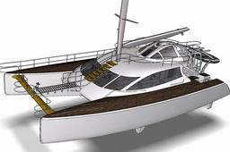 20m cruising catamaran - model file